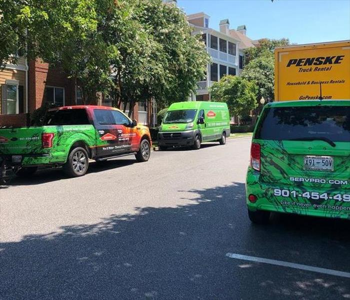 Emergency Green Vehicles are equipped to cleanup your Emergency