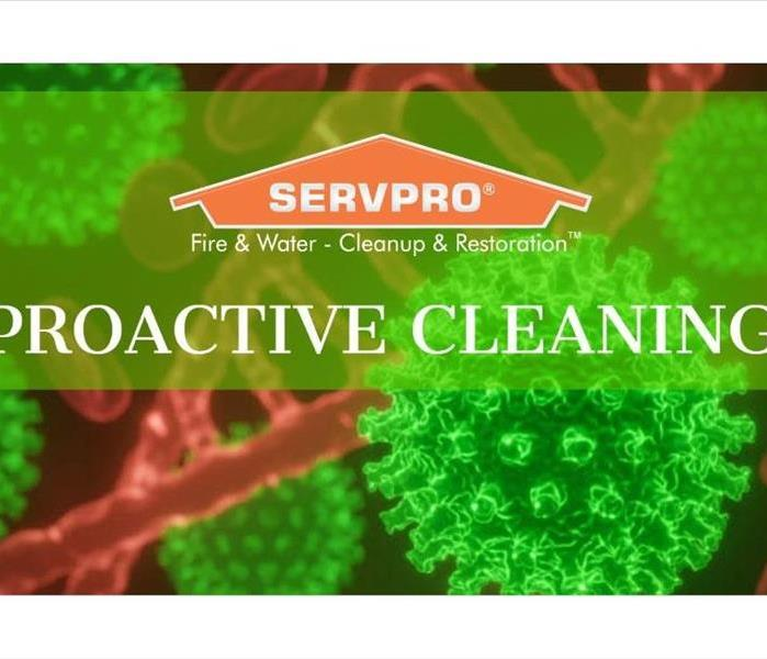 SERVPRO Proactive Cleaning with germs in background